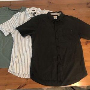 Lot 3 Men's Volcom Shirts size Medium